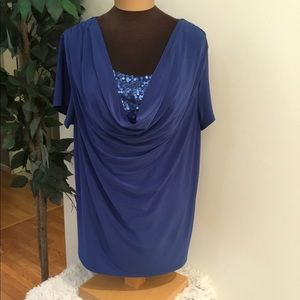 🎈. Cato Woman royal blue 18/20w with sequins
